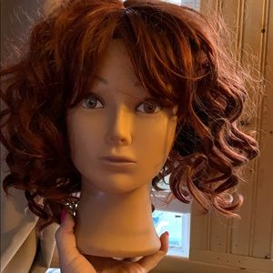 New Red head curly Wig large gorgeous color